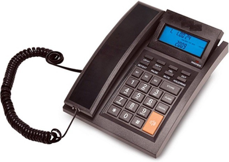 A Connect Z BT-M64 Corded Landline Phone(Black & White)