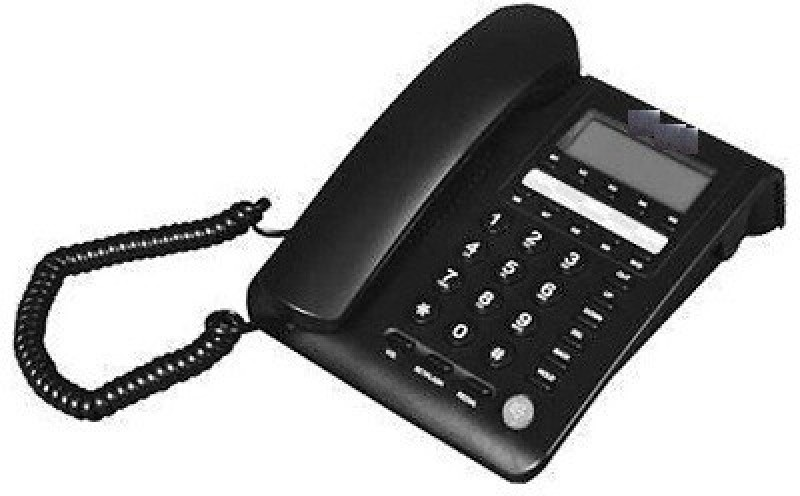 A Connect Z BT-M59 Corded Landline Phone(Black & White)