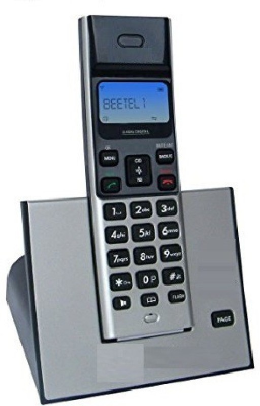 A Connect Z BT-X62 Corded Landline Phone(Black & Silver)