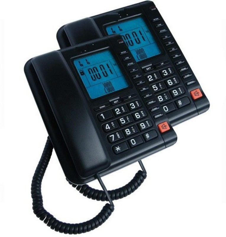 A Connect Z BT-M78 Corded Landline Phone(Black & White)