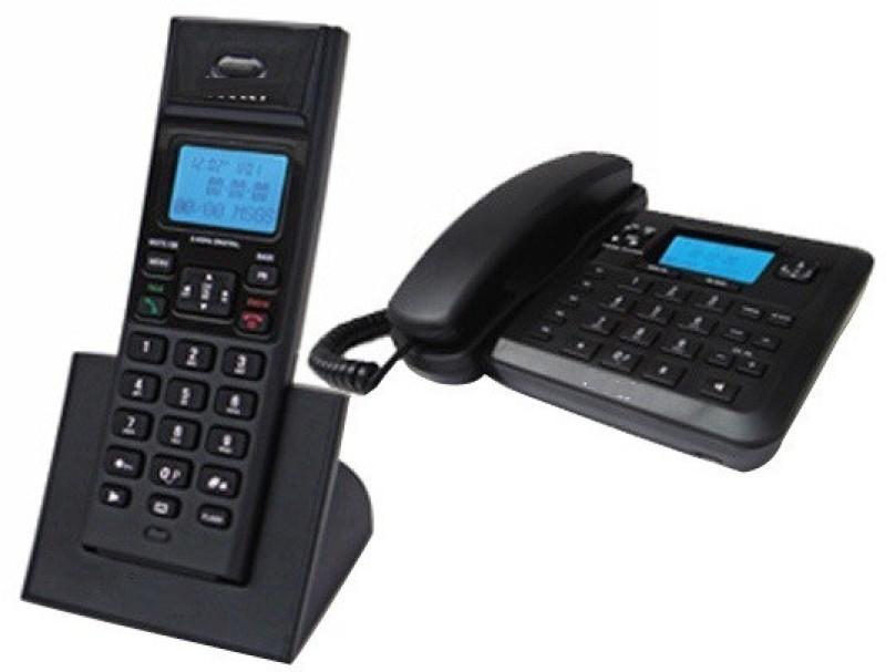 A Connect Z BT-X78 Corded Landline Phone(Black & White)