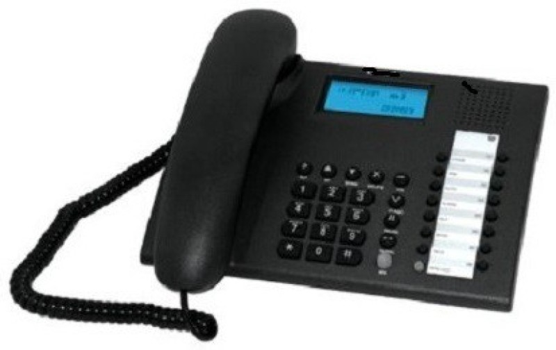A Connect Z BT-M90 Corded Landline Phone(Black & White)