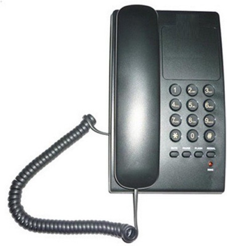 A Connect Z BT-B17 Corded Landline Phone(Black & White)