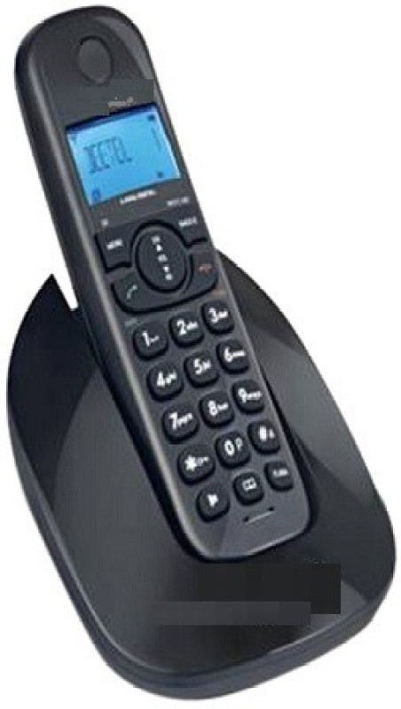 A Connect Z BT-X69 Corded Landline Phone(Black & White)