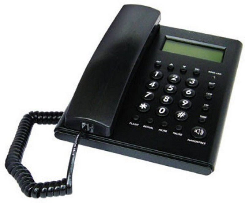 A Connect Z BT-M52 Corded Landline Phone(Black & White)