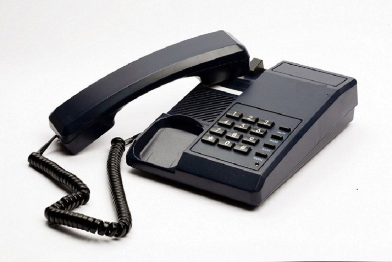 A Connect Z BT-B11 Corded Landline Phone(Black & White)