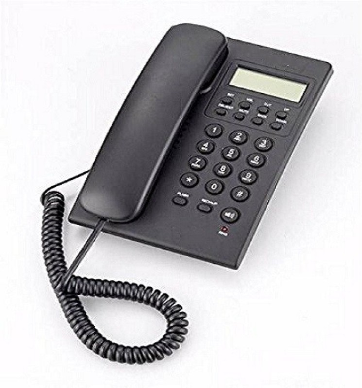 A Connect Z BT-M18 Corded Landline Phone(Black & White)