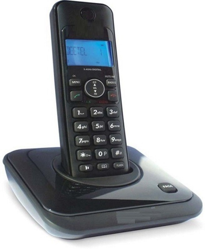 A Connect Z BT-X63 Corded Landline Phone(Black & White)