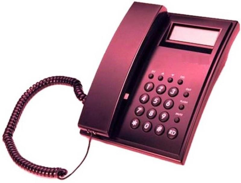 A Connect Z BT-M51N Corded Landline Phone(Black & White)