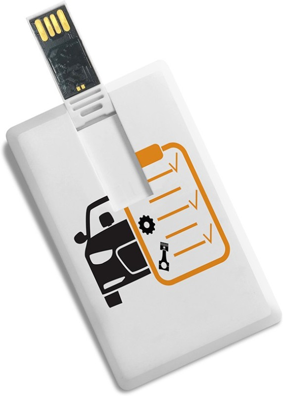 100yellow Credit Card Shape The Best Summer Holidays Printed Fancy 16GB Pen Drive 16 GB Pen Drive(Multicolor)