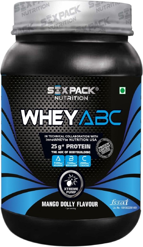 Six Pack Nutrition ABC Whey Protein(1 kg, Mango Dolly)