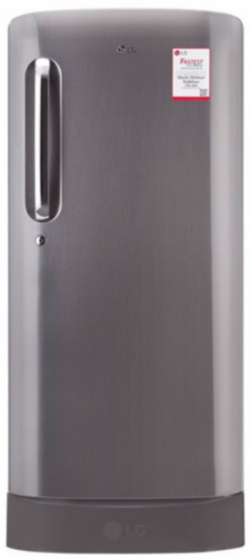 LG 215 L Direct Cool Single Door Refrigerator(Shiny Steel, GL-D221APZW)