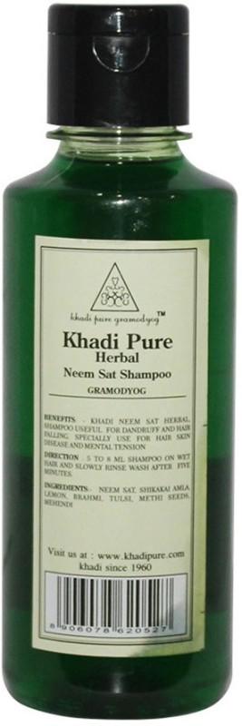 Khadi Pure Herbal Neem Sat Shampoo(210 ml)