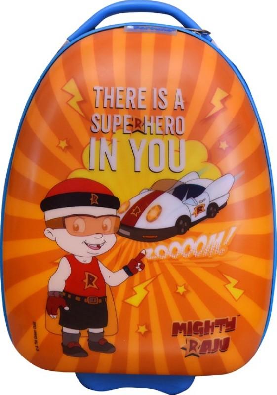 Fortune Chhota Bheem Super Hero In You 17 Inch Kids Egg Shape Luggage Trolley Bag Cabin Luggage - 17 inch(Multicolor)
