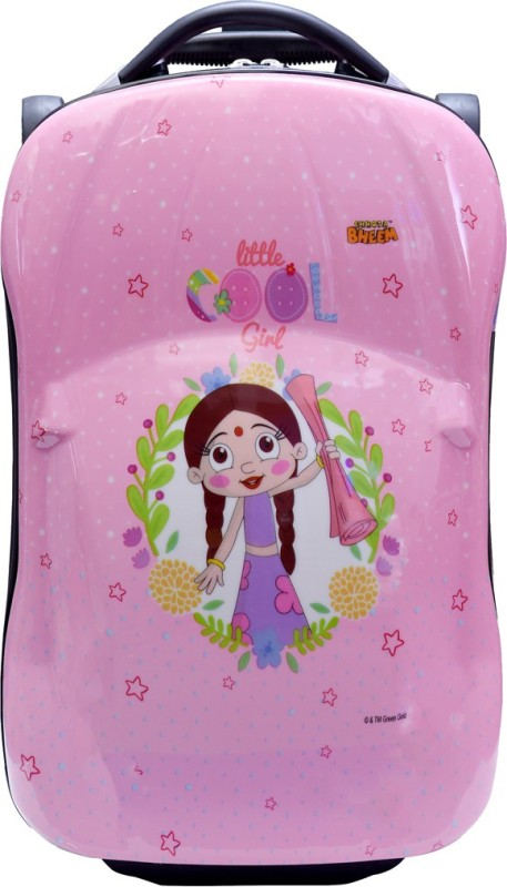 Fortune Chutki Littile Cool Girl 18 inch Kids Car Shape luggage Trolley Bag Cabin Luggage - 18 inch(Multicolor)