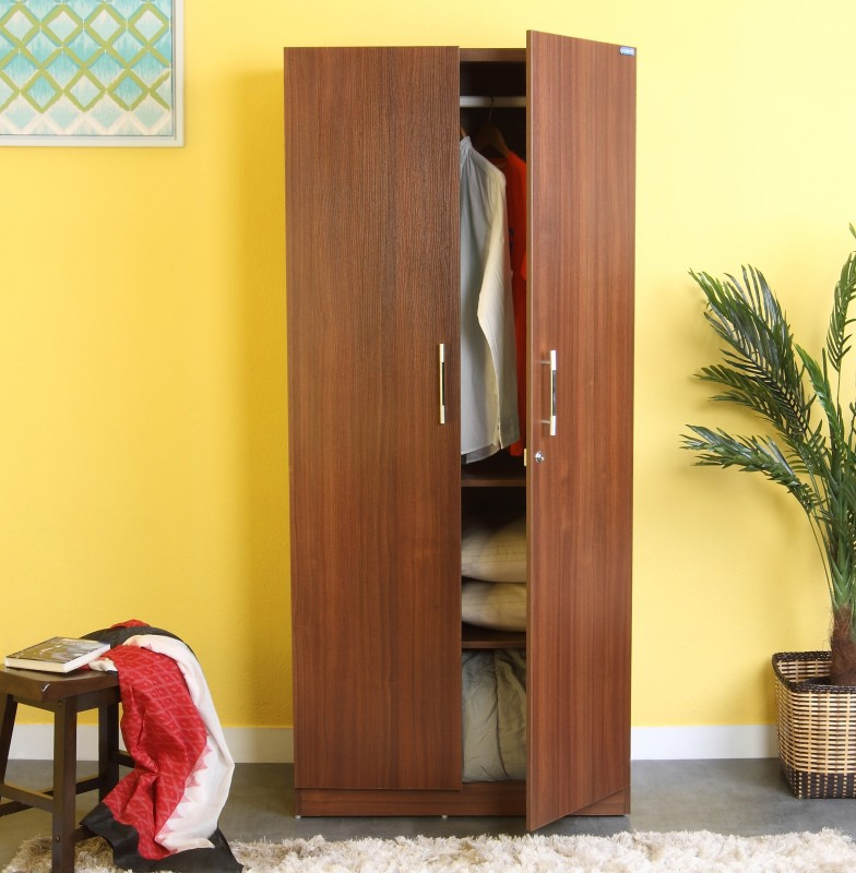 Spacewood Optima Engineered Wood 2 Door Wardrobe(Finish Color - Walnut Rigato)