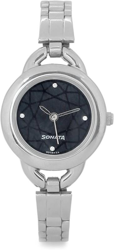 Sonata NG87006SM02AC Klassik Watch - For Women
