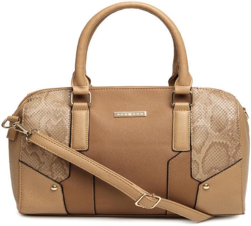 Addons snake textured Duffle Shoulder Bag(Brown, 5 L)