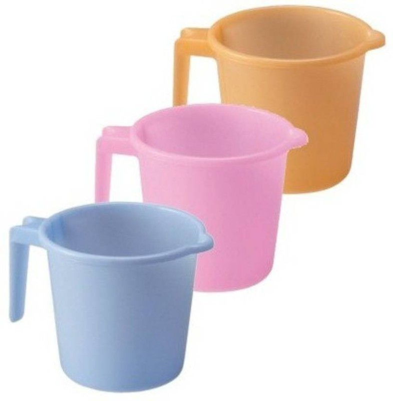 ruchi Plastic Bath Mug(Multicolor 1.5)