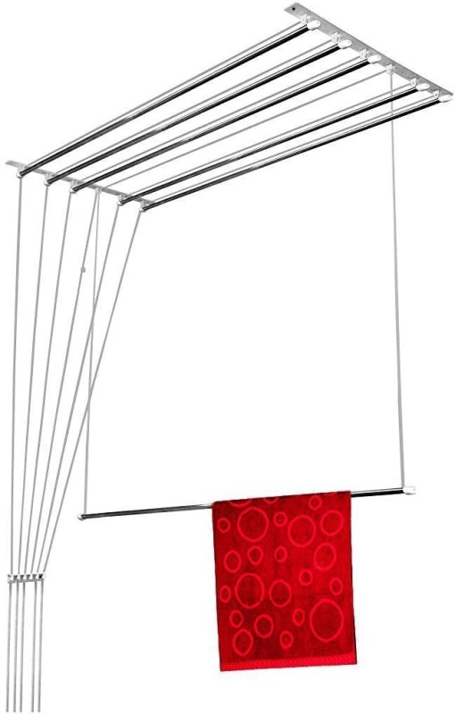 WUDORE 6 Pipes X 6 Feets Steel Ceiling Cloth Dryer Stand(Steel)