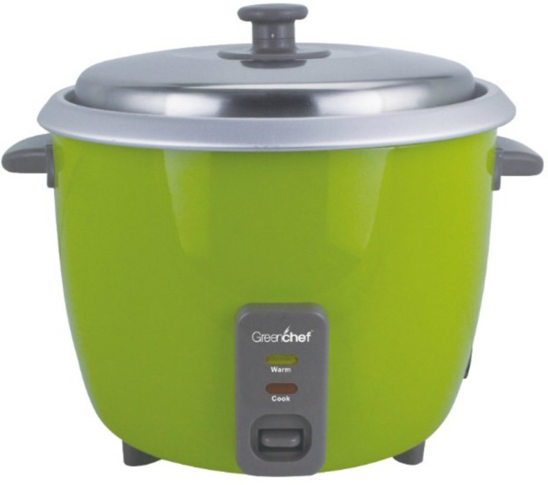 Greenchef RC18CG Electric Rice Cooker with Steaming Feature(1.8 L, Green)