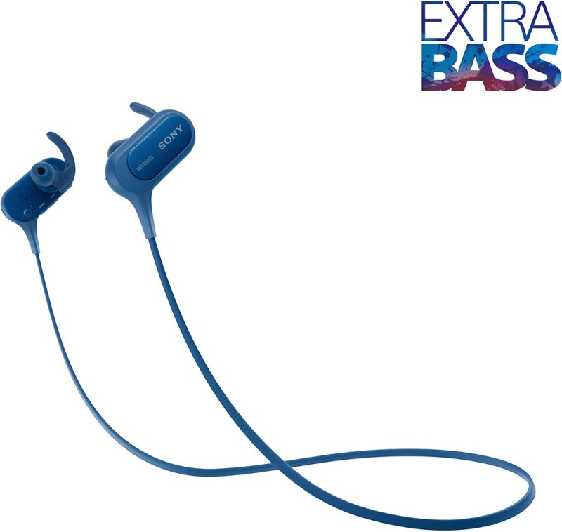 Sony XB50 Bluetooth Headphone(Blue, In the Ear)