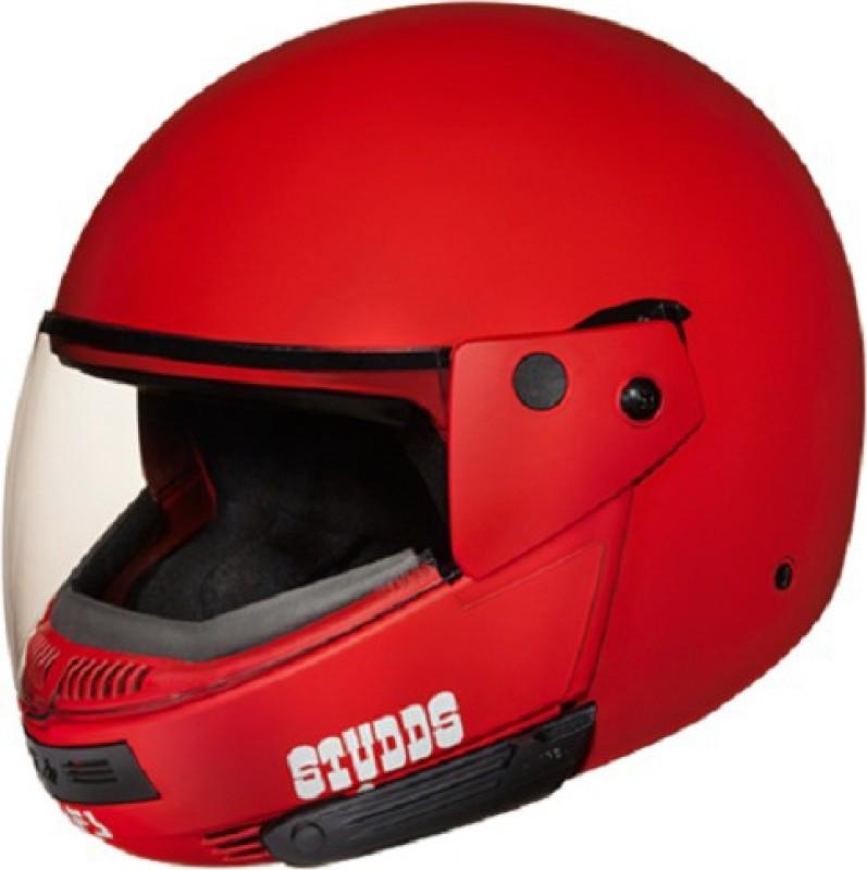 Studds Ninja Pastel Plain Motorbike Helmet(Matt Sports Red)