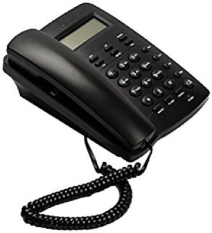 A Connect Z BT-M53N Corded Landline Phone(Black & White)