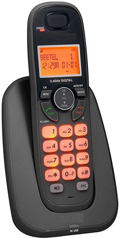 A Connect Z BT-X70 Corded Landline Phone(Black & White)