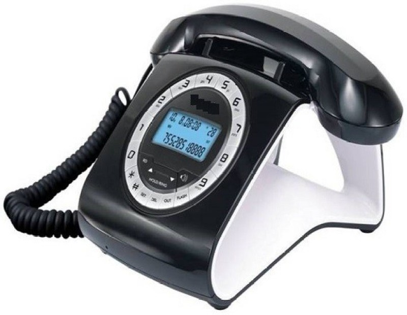 A Connect Z BT-M73 Corded Landline Phone(Black & White)