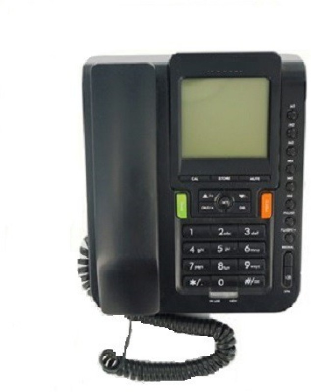 A Connect Z BT-M71 Corded Landline Phone(Black & White)