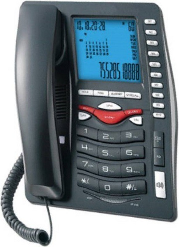 A Connect Z BT-M75 Corded Landline Phone(Black & White)