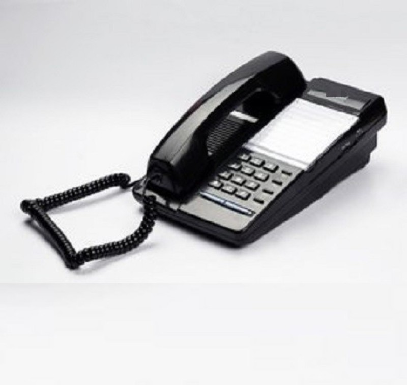 A Connect Z BT-B70 Corded Landline Phone(Black & White)