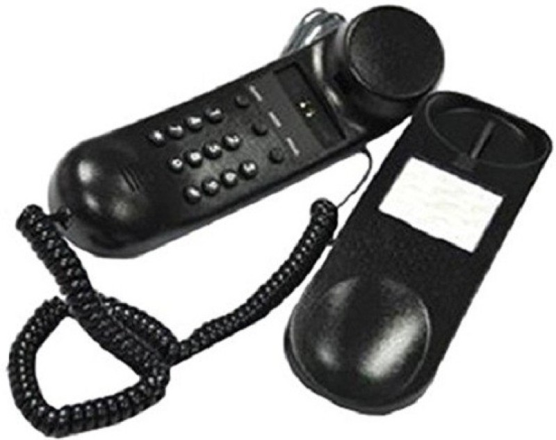 A Connect Z BT-B25 Corded Landline Phone(Black & White)
