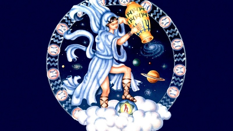Mahalaxmi Zodiac signs Aquarius drawing on quality paper 13x19 Paper Print(19 inch X 13 inch, Rolled)