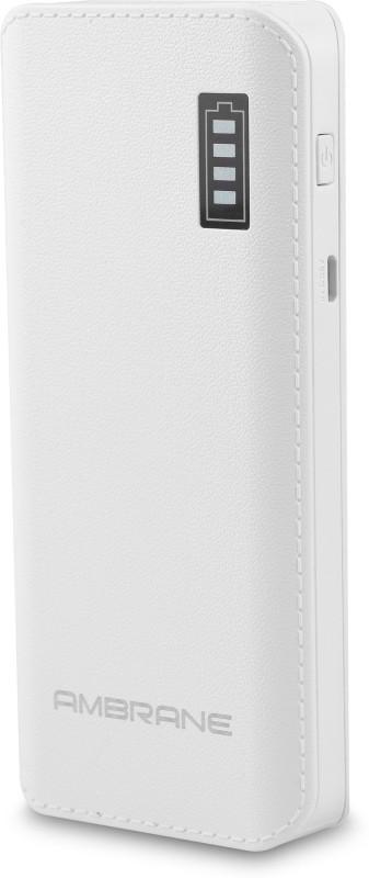 Ambrane 12500 mAh Power Bank (P-1133)(White, Lithium-ion)