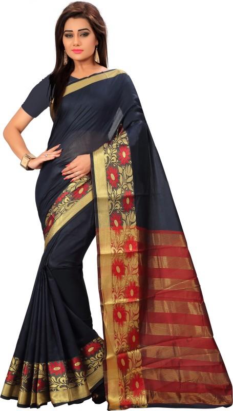 Active Printed Kanjivaram Tussar Silk Saree(Multicolor)