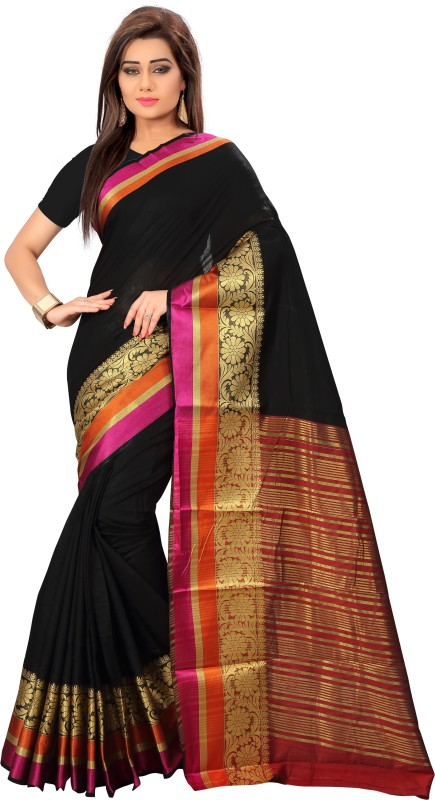 Active Printed Kanjivaram Tussar Silk Saree(Multicolor)