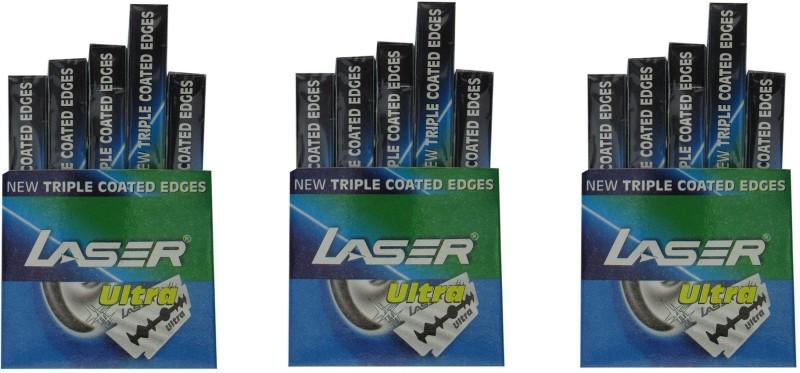 Laser Ultra Blade Set of 3 Saloon Pack, (150 Blades)(Pack...