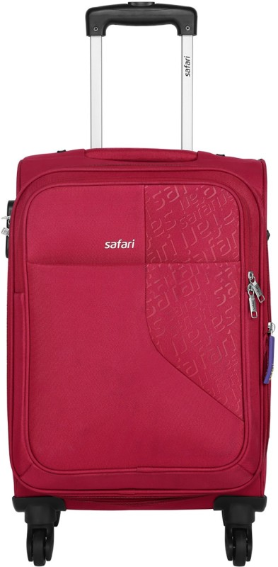Safari Badge Expandable Cabin Luggage - 22 inch(Red)