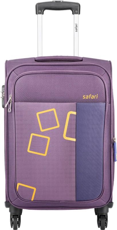 Safari Tetra Expandable Check-in Luggage - 23 inch(Purple)