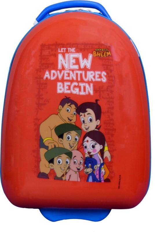 Fortune Chhota Bheem New Adventure Begin 17 Inch Kids Egg Shape Luggage Trolley Bag Cabin Luggage - 17 inch(Multicolor)