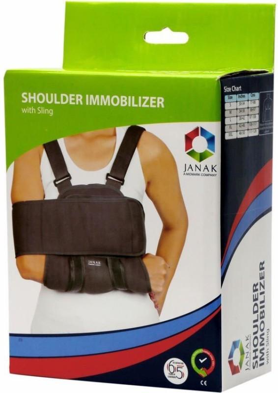 Janak (MIDMARK) Shoulder Immobilizer with Sling Shoulder Support (XXL, Grey)