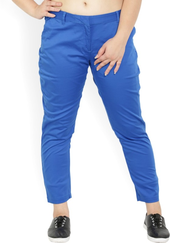 Allen Solly Slim Fit Womens Blue Trousers