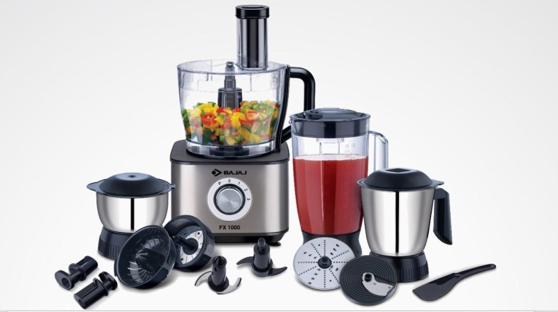 Bajaj FX1000 Fab 1000 W Food Processor(Black)