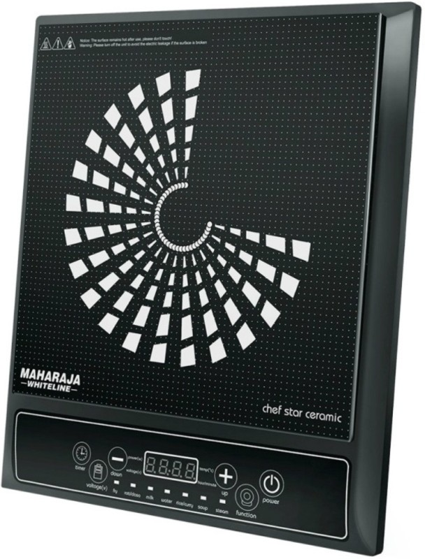 Maharaja Whiteline IC-108 Induction Cooktop(Black, Push Button)