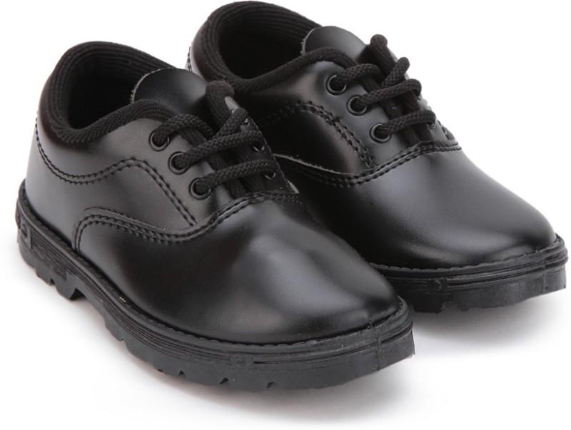 Prefect Boys Lace Walking Shoes(Black)