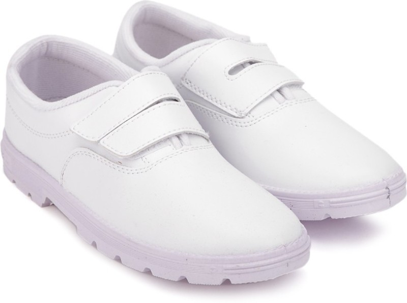 Prefect Girls Velcro Walking Shoes(White)