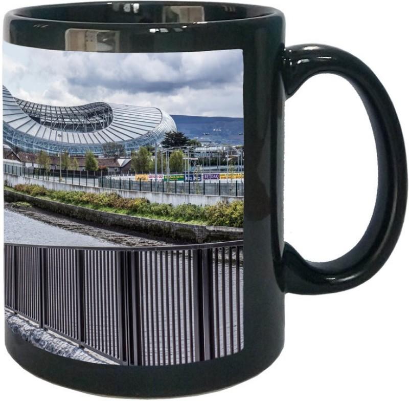 Arkist aviva stadium dublin wallpaper Black Ceramic Mug(340 ml)