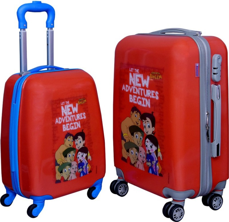 Fortune Chhota Bheem New Adventure Begin set of 17+20 Inch Luggage trolley Bag Cabin Luggage - 17.20 inch(Multicolor)